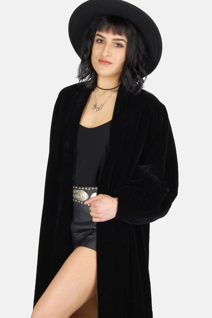 Darkest Hour Crushed Velvet Coat - One More Chance - 2