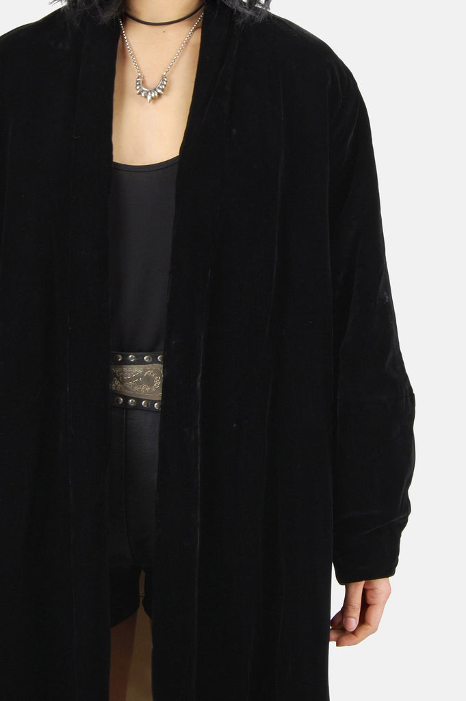 Darkest Hour Crushed Velvet Coat - One More Chance - 4