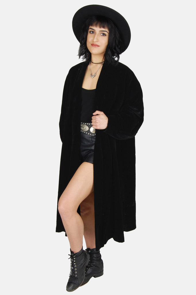 Darkest Hour Crushed Velvet Coat - One More Chance - 3