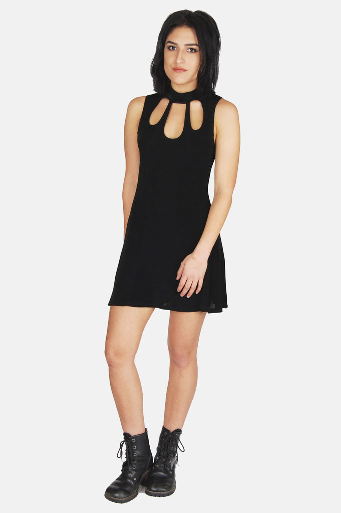 One More Chance Boutique - Vintage Drive Me Crazy Cutout Mini Dress