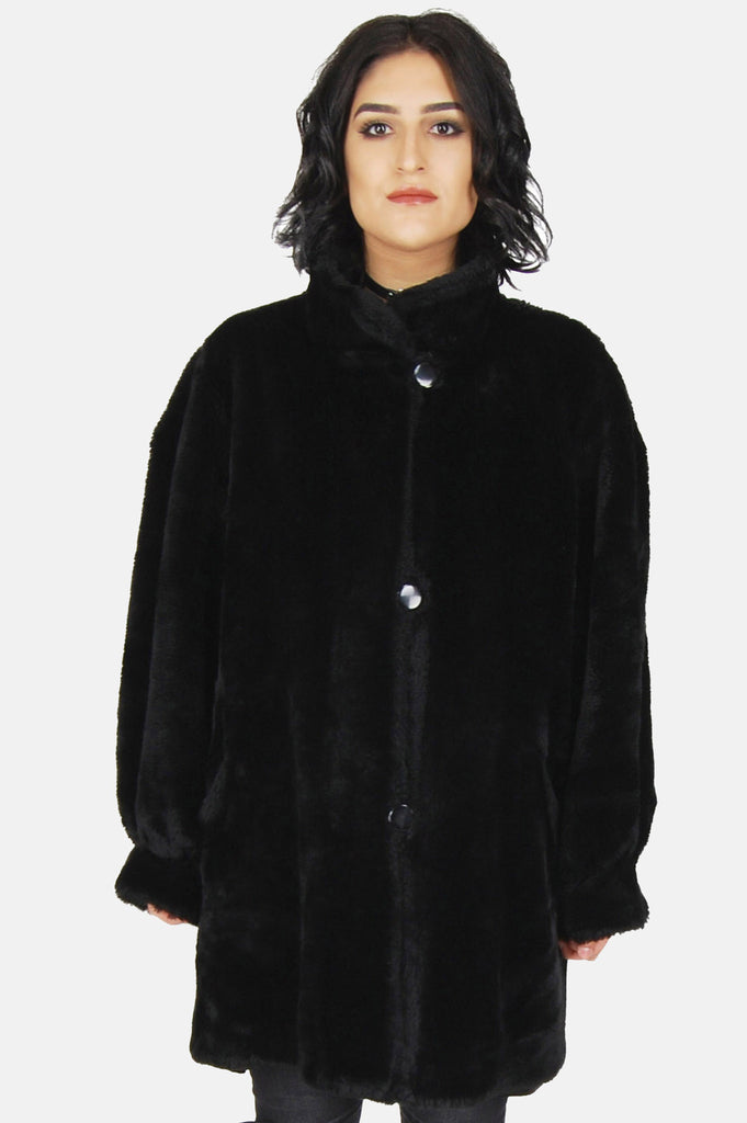 One More Chance Vintage - Vintage Night Owl Faux Fur Jacket