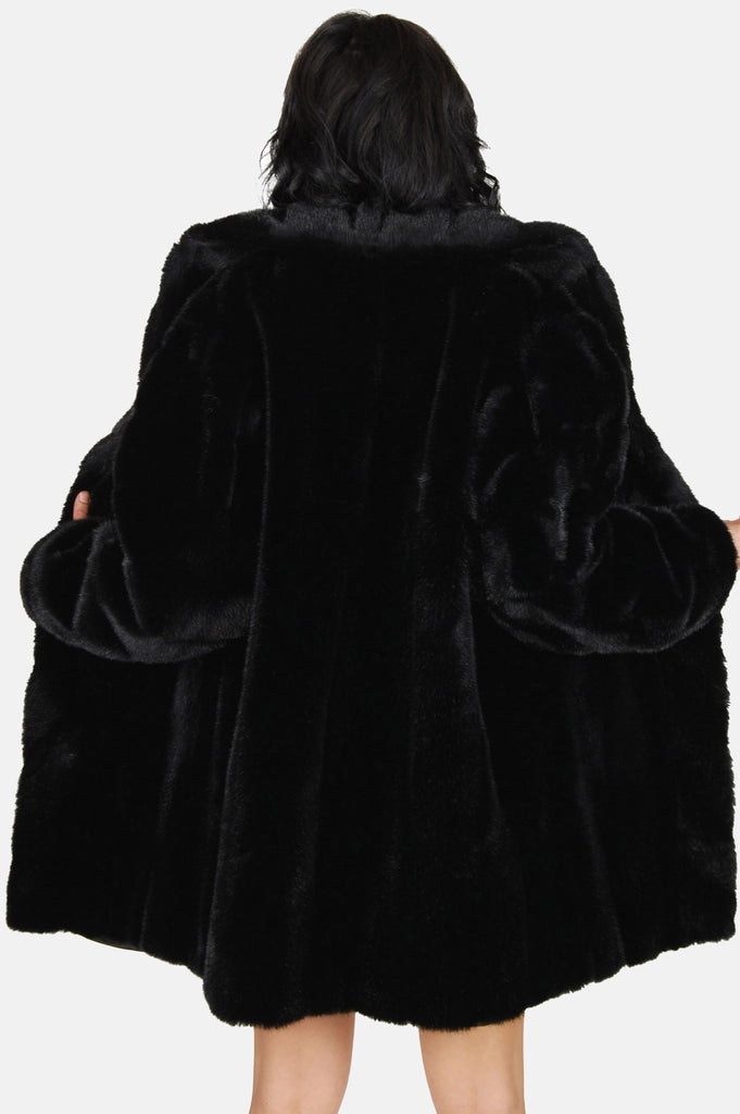 One More Chance Boutique - Vintage Astraka London Faux Fur Mink Jacket