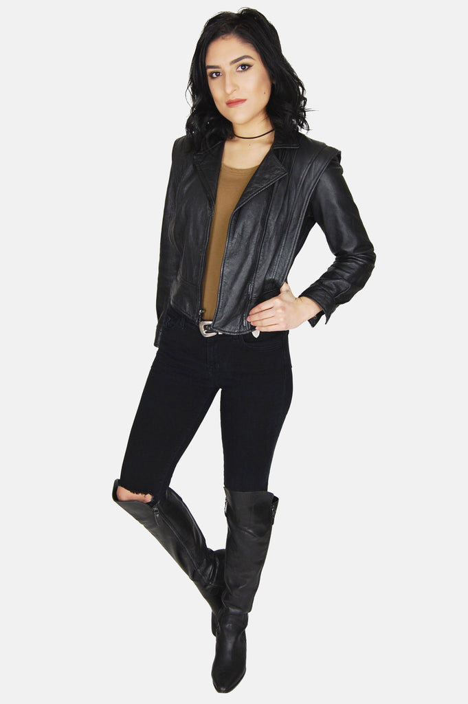 Night Rider Fitted Leather Jacket - One More Chance - 2