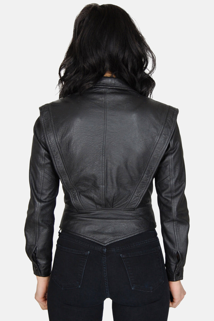 Night Rider Fitted Leather Jacket - One More Chance - 5