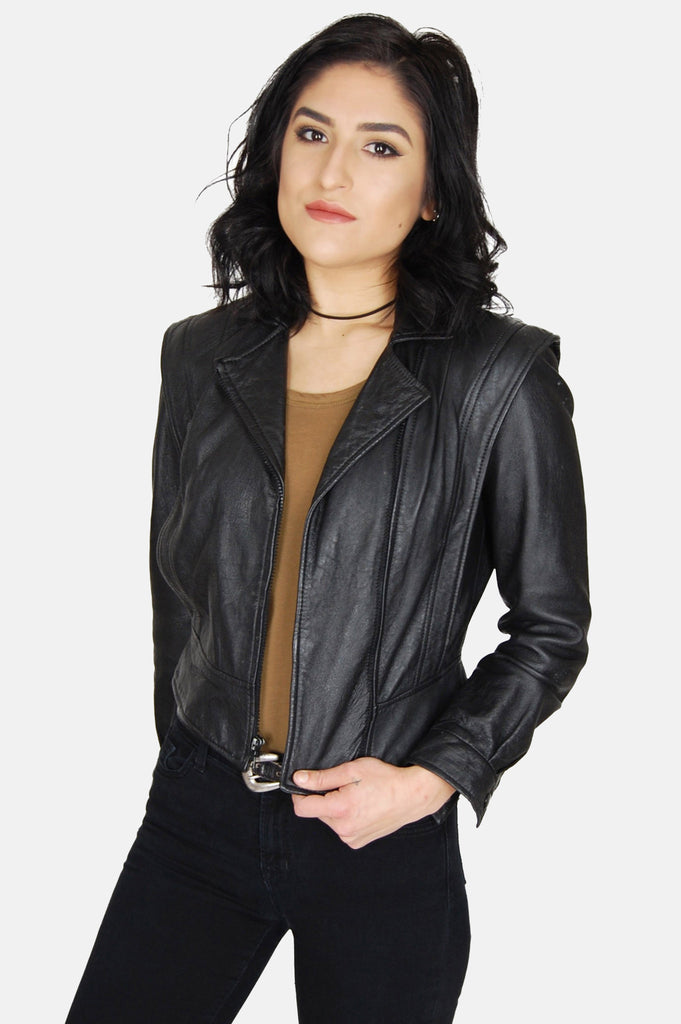 Night Rider Fitted Leather Jacket - One More Chance - 1