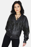 One More Chance Vintage - Vintage Wild As The Wind Fringe Leather Jacket