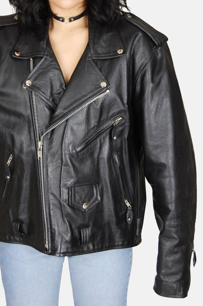Ramble On Buffalo Leather Motorcycle Jacket - One More Chance - 4