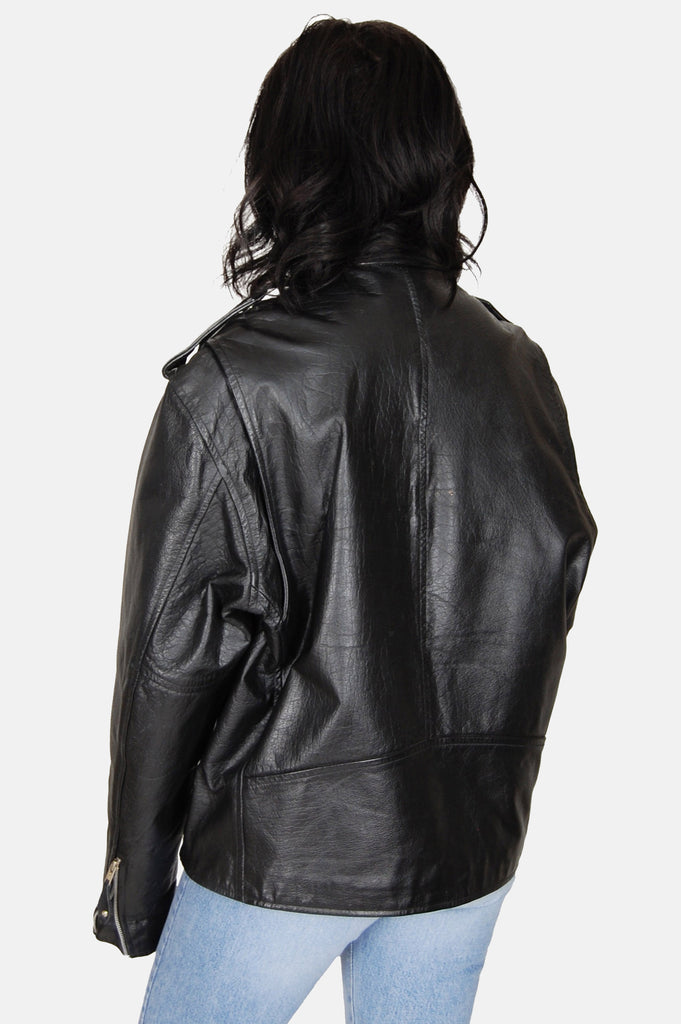 One More Chance Vintage - Vintage Ramble On Buffalo Leather Motorcycle Jacket