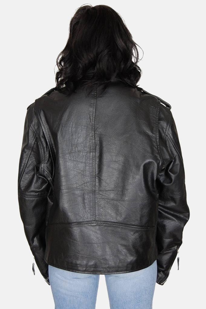 Ramble On Buffalo Leather Motorcycle Jacket - One More Chance - 6