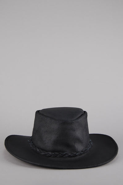 Easy Rider Leather Rancher Hat - Black