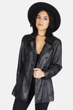 One More Chance Boutique - Vintage Midnight Mover Leather Jacket