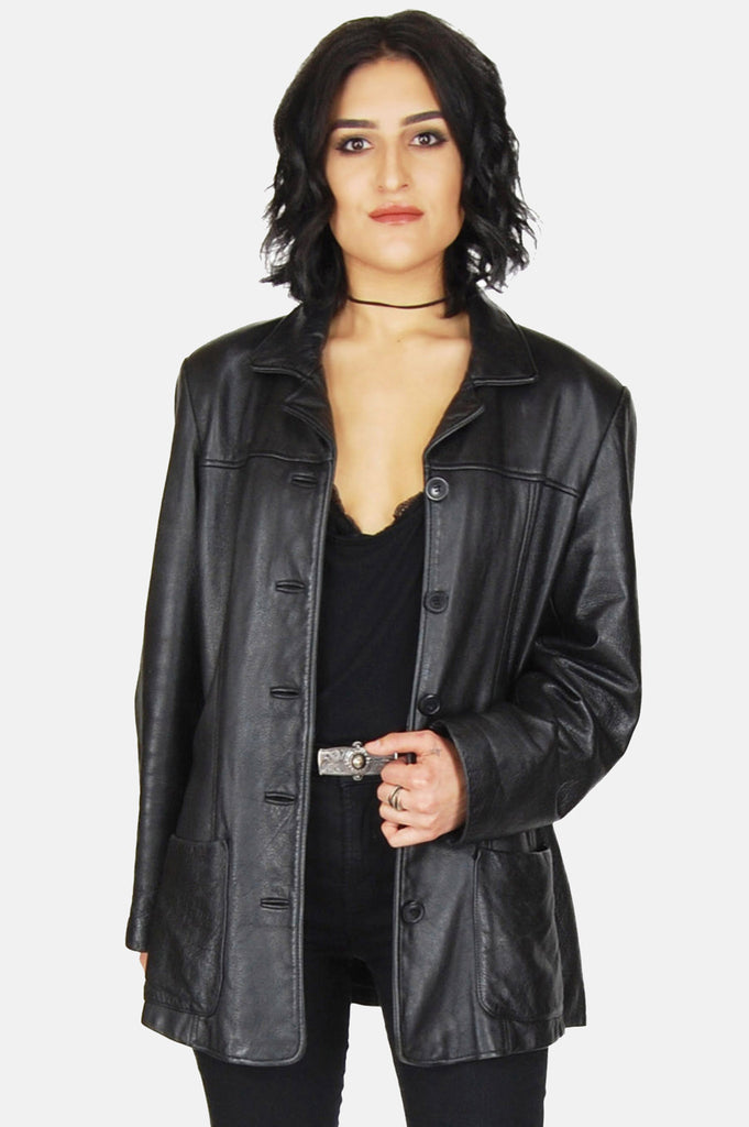 One More Chance Vintage - Vintage The Taker Leather Jacket