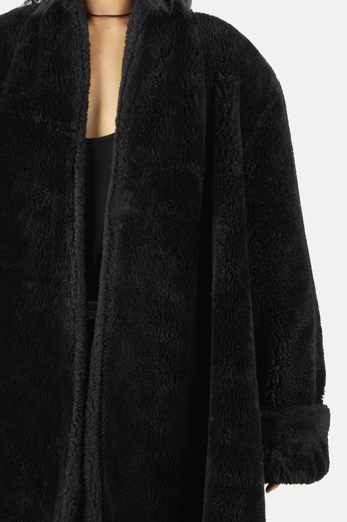 One More Chance Boutique - Vintage Night Walks Oversized Faux Fur Jacket