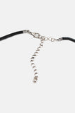 One More Chance Vintage - Double Trouble Knotted Leather Choker in Black
