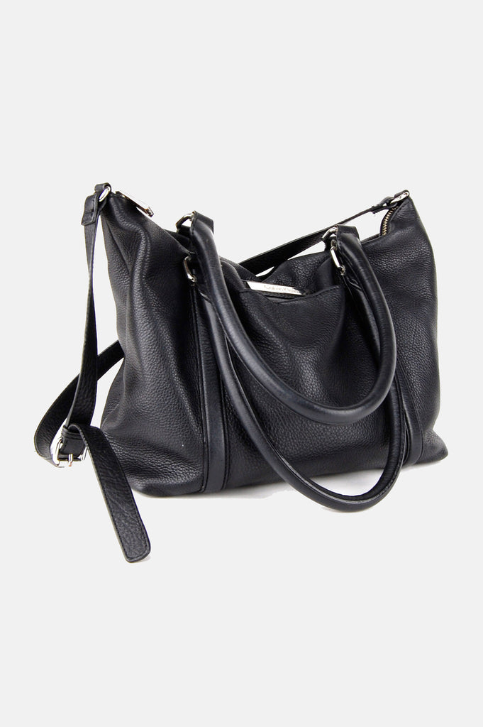 One More Chance Boutique - Vintage Don't Look Back Leather Shoulder Bag