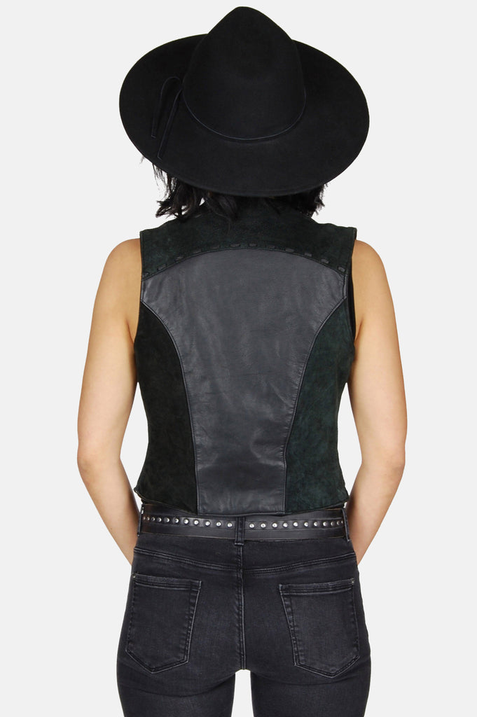 One More Chance Boutique - Vintage Can't Stop Rockin' Leather Vest