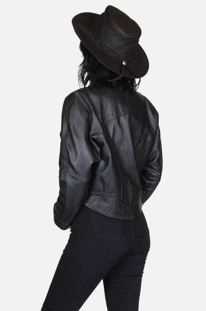 One More Chance Boutique - Vintage Bad As Me Leather Jacket