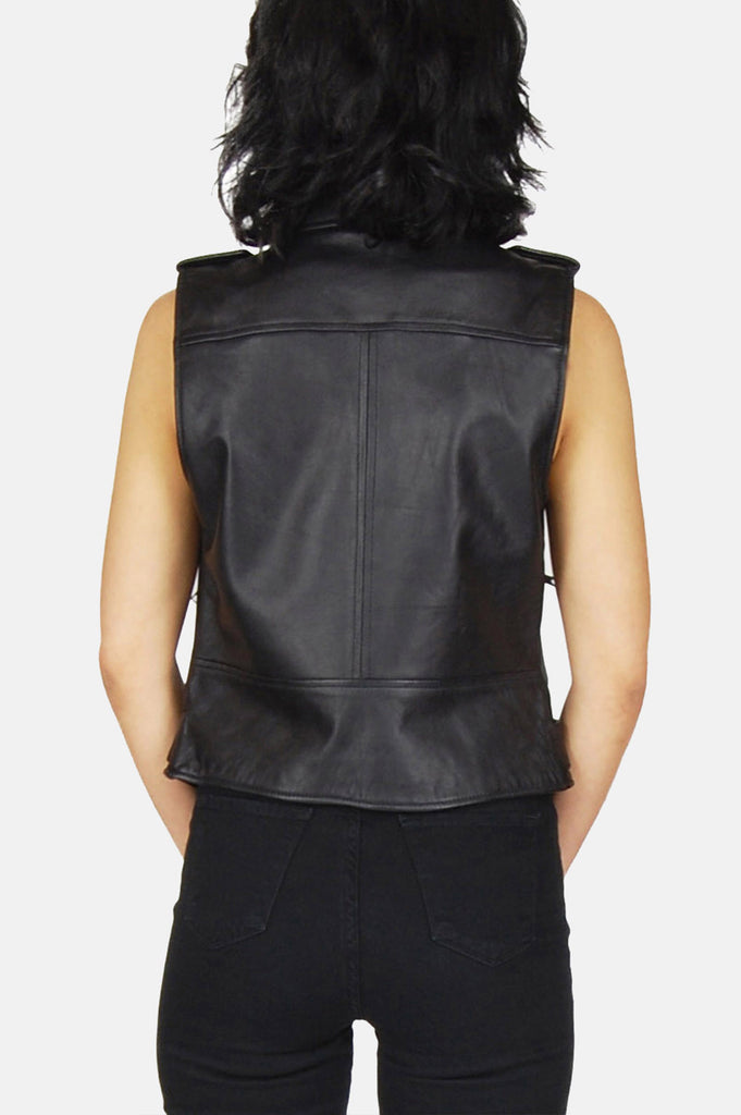 One More Chance Vintage - Vintage Livin' Is Easy Buttery Soft Leather Moto Vest