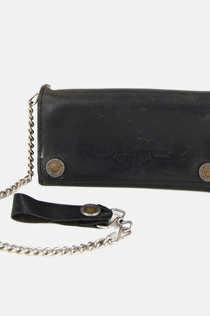 One More Chance Vintage - Vintage Harley Davidson Motorcycles Chain Leather Wallet