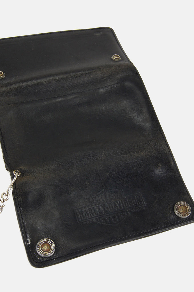 Harley Davidson Motorcycles Chain Leather Wallet