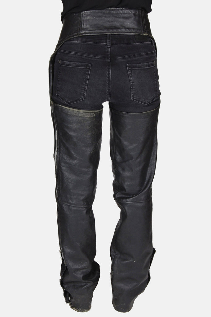 One More Chance Vintage - Vintage Leather Mama Distressed Chaps
