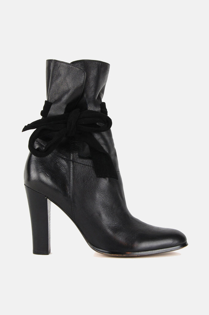 One More Chance Boutique - Vintage Charles David Heeled Leather Ankle Boots