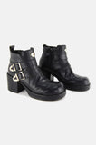One More Chance Vintage - Vintage Harley Davidson Buckled Leather Platform Boots