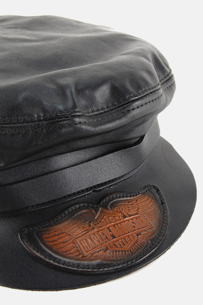 Harley Davidson Leather Captains Hat - One More Chance - 2