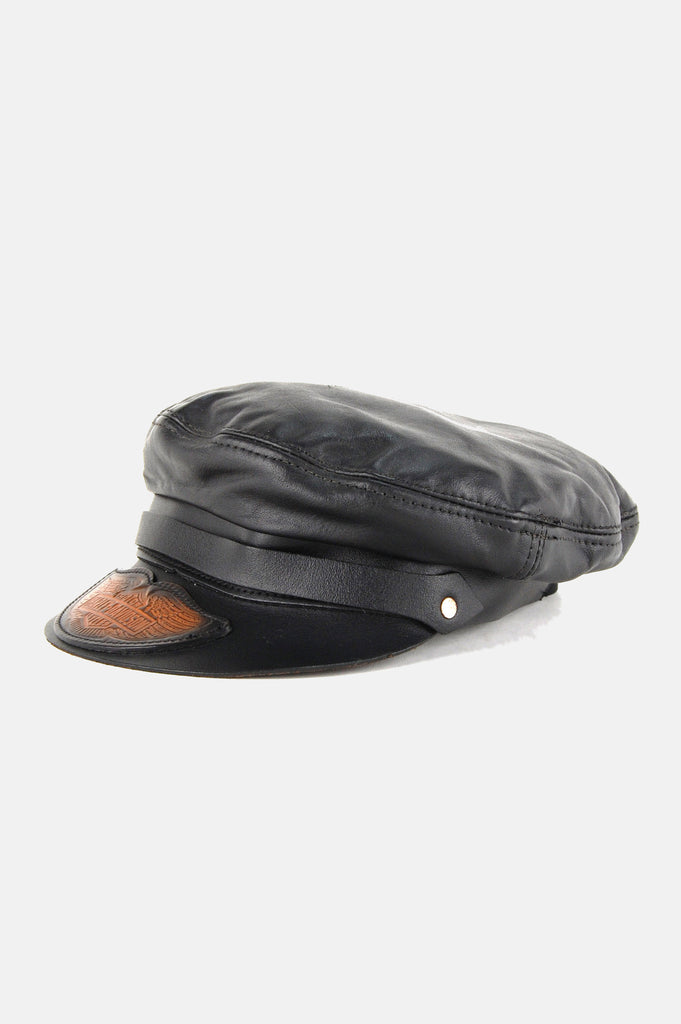 Harley Davidson Leather Captains Hat - One More Chance - 3