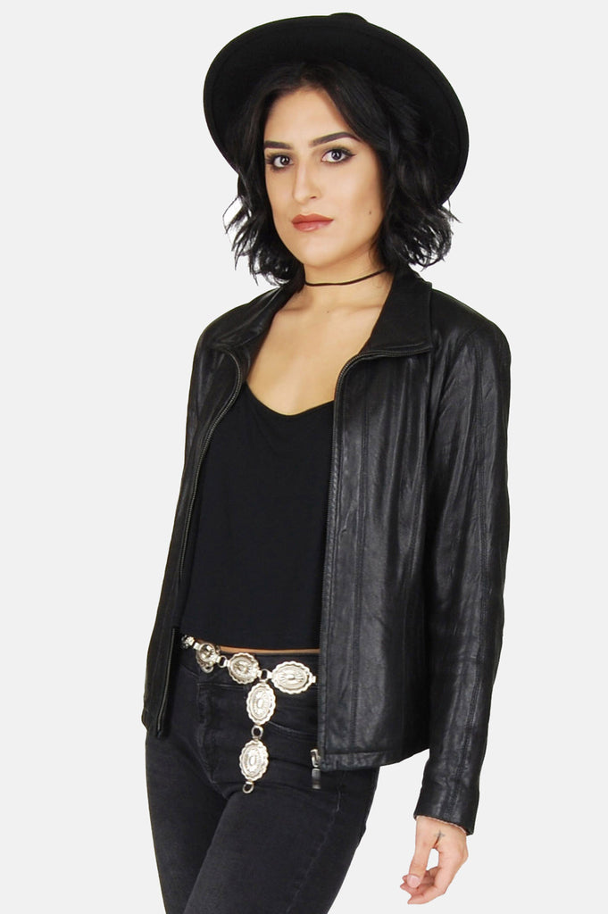 One More Chance Boutique - Vintage Night Rider Buttery Soft Leather Jacket