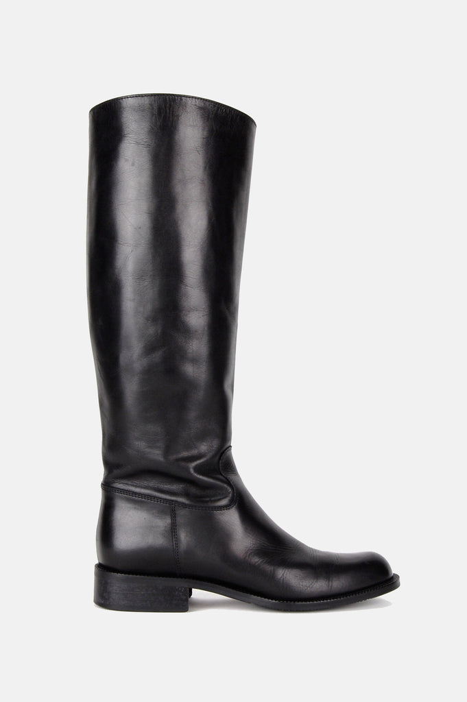 One More Chance Boutique - Vintage Black Night Leather Riding Boots