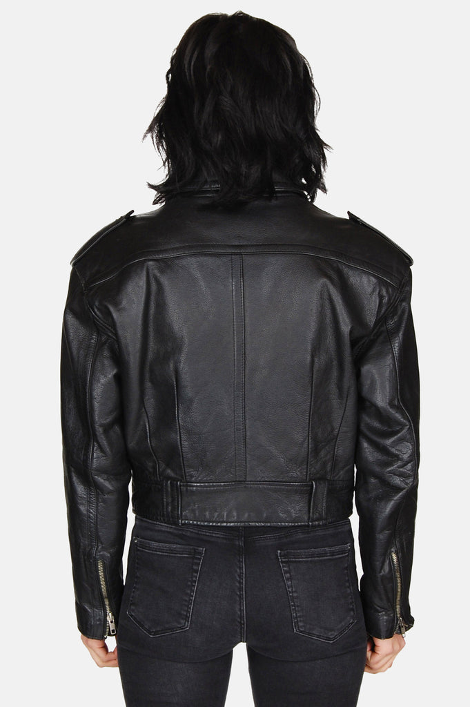 Rebel Within Leather Moto Jacket - One More Chance - 5