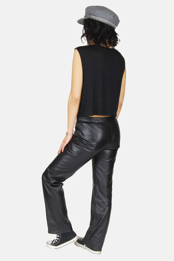Easy Ride Zip Leather Moto Pants - One More Chance - 4