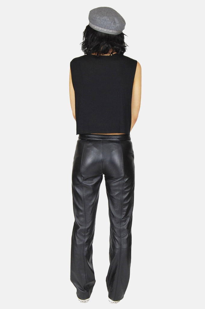 Easy Ride Zip Leather Moto Pants - One More Chance - 5