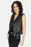 One More Chance Vintage - Vintage Livin' Is Easy Leather Moto Vest