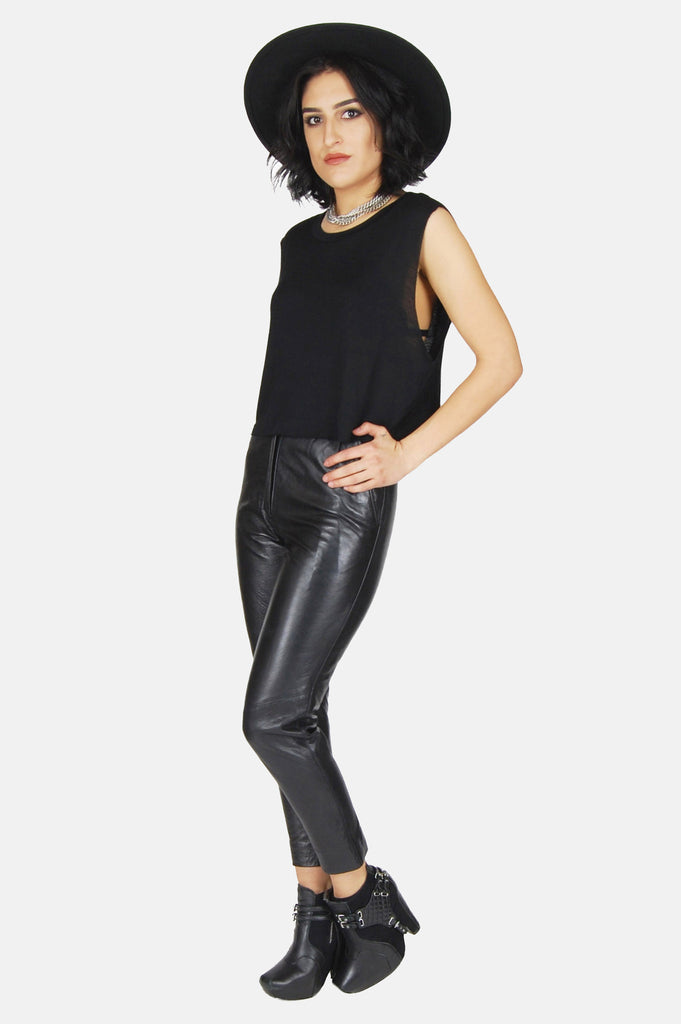 One More Chance Vintage - Vintage Hey Mama Skinny Leather Pants