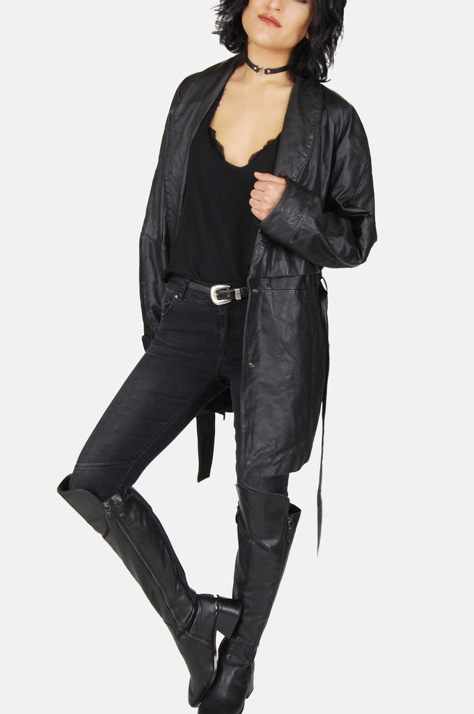 One More Chance Vintage - Vintage Night Time Is The Right Time Leather Jacket