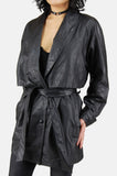 One More Chance Boutique - Vintage Night Time Is The Right Time Leather Jacket