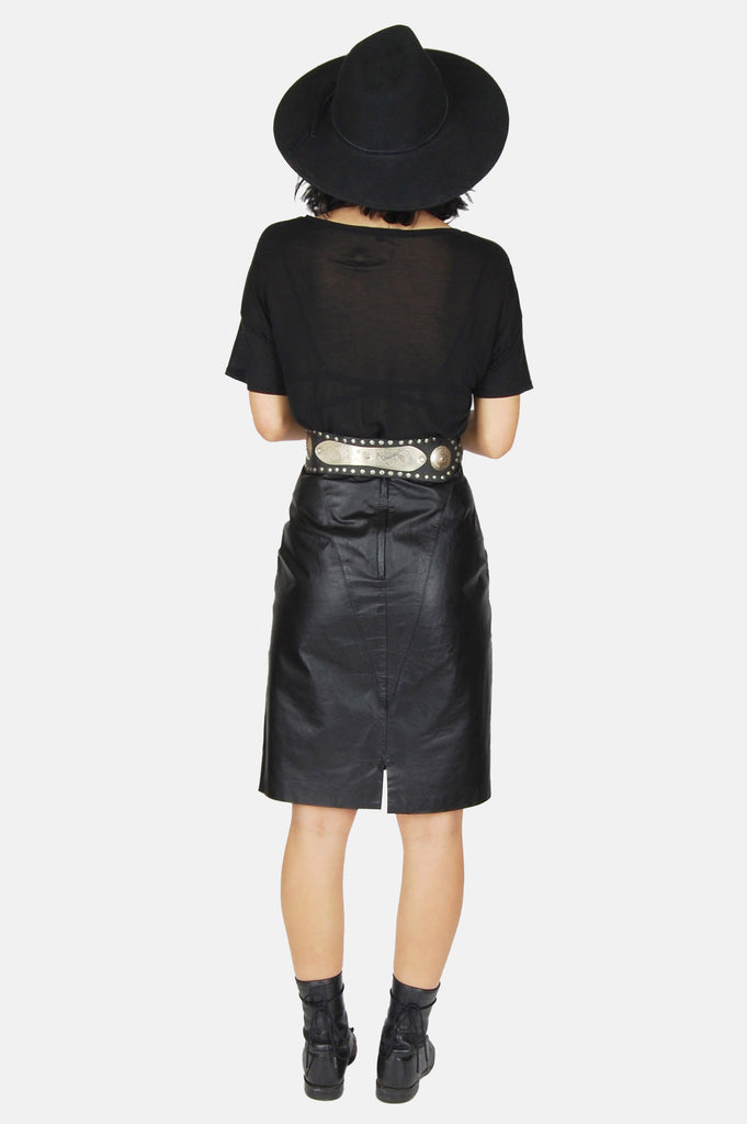 One More Chance Boutique - Vintage Gimme Love Leather Skirt