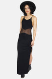 One More Chance Boutique - Vintage Turn Me On Mesh Cutout Maxi Dress