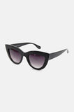 One More Chance Vintage - Kitty Cat Eye Sunglasses in Shiny Black