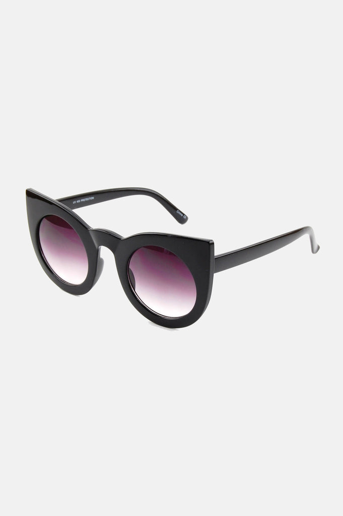 One More Chance Vintage - The Jane Retro Sunglasses in Black