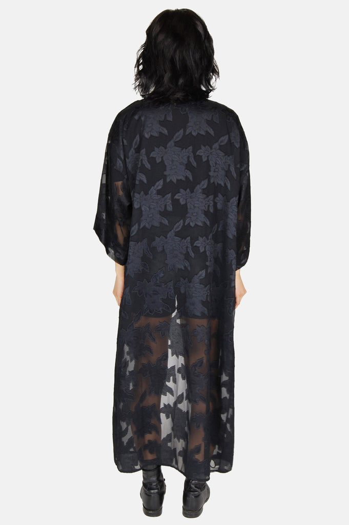 One More Chance Boutique - Vintage Visions of Johanna Sheer Floral Duster Jacket