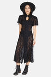 One More Chance Vintage - Vintage Lacey Woman Sheer Cutout Maxi Dress