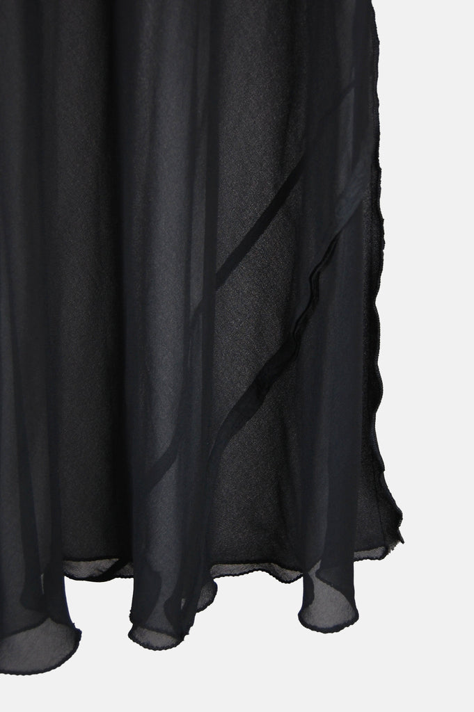 One More Chance Vintage - Vintage Trouble In Mind Sheer Paneled Maxi Dress