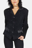 City Night Satin Suede Leather Jacket
