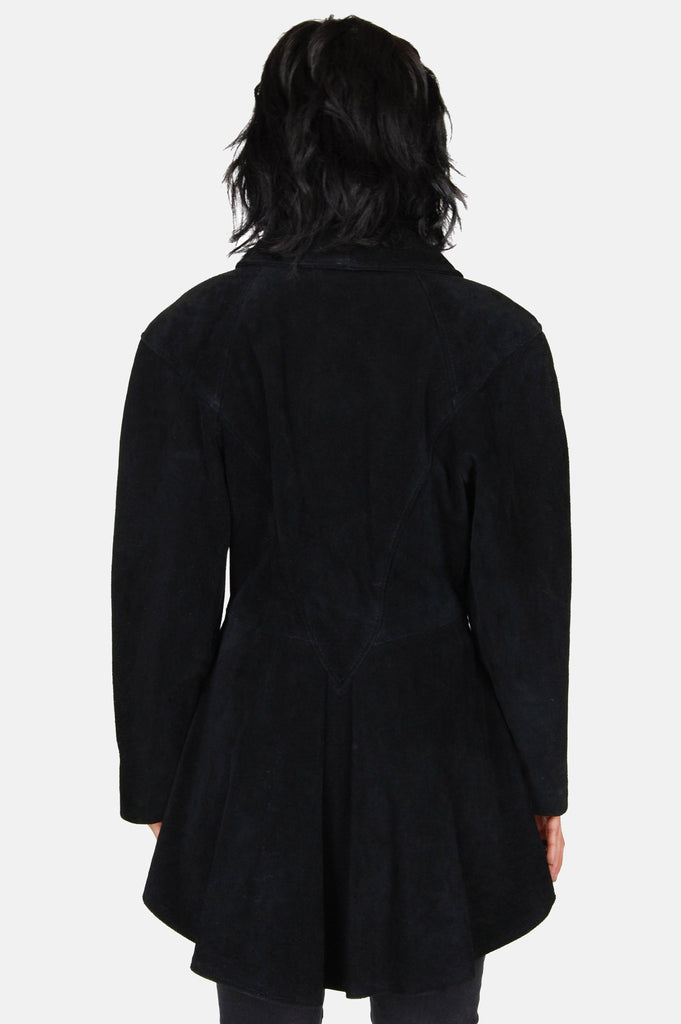 Dark Shadows Suede Leather Peplum Jacket - One More Chance - 6