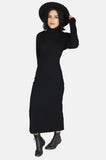 One More Chance Vintage - Vintage Foxy Lady Wool Cutout Maxi Dress
