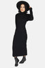 One More Chance Boutique - Vintage Foxy Lady Wool Cutout Maxi Dress