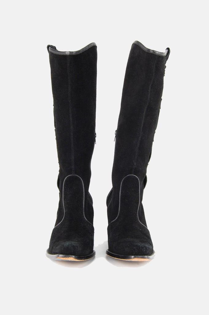 Via Spiga Studded Suede Leather Knee High Boots - One More Chance - 3